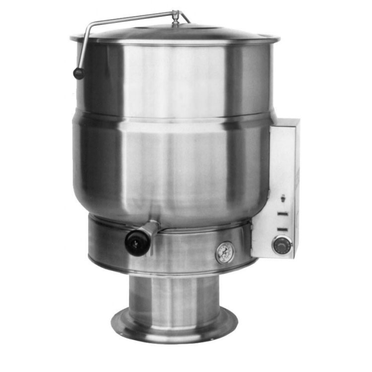 Market Forge F40PE2083 40-Gallon Kettle, Pedestal Base, Stainless, 208/3 V