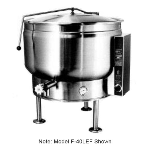 Market Forge F-60LEF 3803 60-gal Kettle w/ Full Steam Jacket Design, Tri-Leg, Stainless Finish, 380/3 V