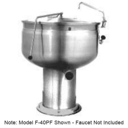 Market Forge F-80PF 80-gal Kettle, Direct Steam w/ Full Steam Jacket Design & Pedestal Base
