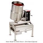 Market Forge FCT-12CE 2083 12-gal Tabletop Kettle, Tilt-Type w/ Hand Crank, Full Steam Jacket, 208/3 V