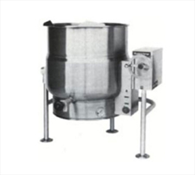 Market Forge FT-100LE 100-gal Tilting Kettle, 2/3- Steam Jacket Design & Tri Leg Base, Stainless