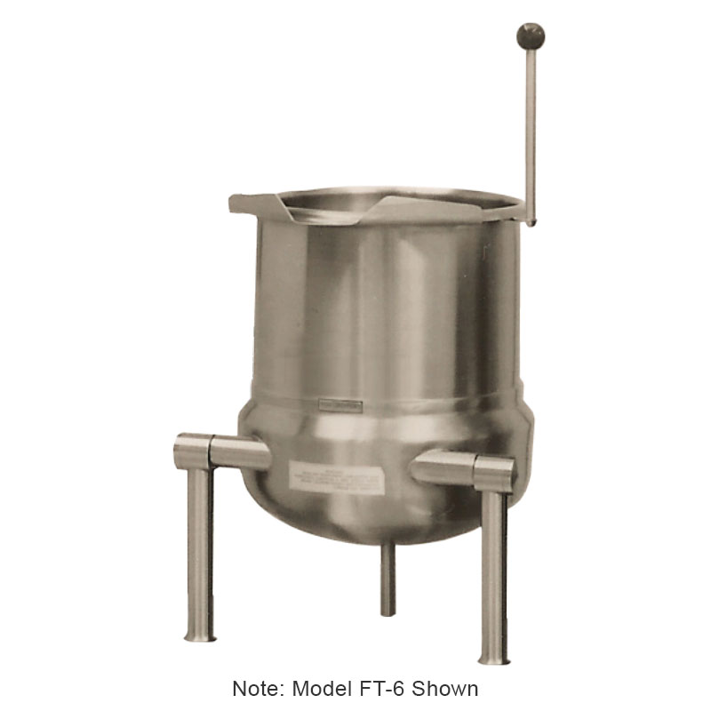 Market Forge FT10 Tilting Kettle, Direct Steam, Table Top, 10 Gal Capacity
