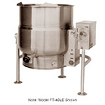 Market Forge FT-20LE 2403 20-gal Tilting Kettle, 2/3- Steam Jacket & Open Leg Base, Stainless, 240/3 V