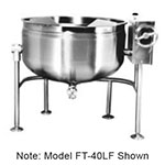 Market Forge FT-20LF 20-gal Tilting Kettle, Direct Steam, Full Steam Jacket Design, Stainless