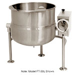 Market Forge FT-30L 30-gal Tilting Kettle, Direct Steam, 2/3- Steam Jacket Design, Stainless