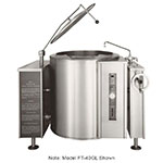 Market Forge FT-60GL NG 60-gal Tilting Kettle, 2/3-Steam Jacket Design & Open Leg Base, NG