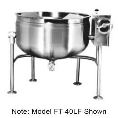 Market Forge FT-60LF 60-gal Tilting Kettle, Direct Steam, Full Steam Jacket Design & Tri-Leg Base