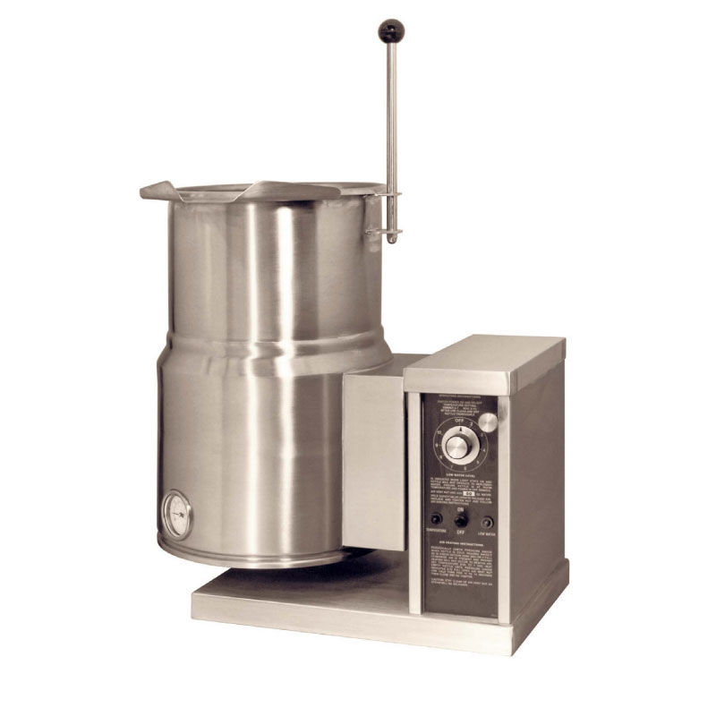 Market Forge FT6CE 2401 6-Gallon Tilt Kettle, 2/3 Steam Jacket, 240/1 V