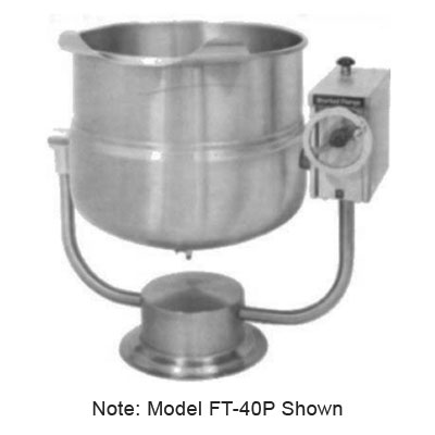 Market Forge FT-80P 80-gal Tilting Kettle, 2/3-Steam Jacket Design & Pedestal Base, Stainless
