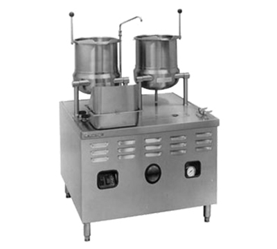 Market Forge MT10T6E36A 2083 2-Tilting Kettles w/ 36-in Base & 36-kw Steam Generator, Stainless, 208/3 V