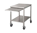 "Market Forge 92-1012 28"" x 24"" Mobile Equipment Stand for Countertop Steamers, Undershelf"