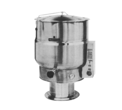 Market Forge F-80PE 80-gal Kettle, Direct Steam, 2/3-Steam Jacket Design & Pedestal Base