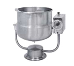 Market Forge FT-30P 30-gal Tilting Kettle, 2/3-Steam Jacket Design & Pedestal Base, Stainless