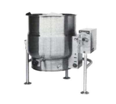 Market Forge FT-30LE 2401 30-gal Tilting Kettle, 2/3- Steam Jacket Design & Open Tri-Leg Base, 240/1 V