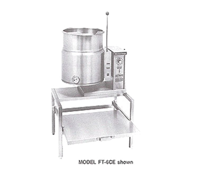 Market Forge FT-12CE 2081 12-gal Tabletop Kettle, Tilt-Type, 2/3- Steam Jacket Design, Stainless, 208/1 V