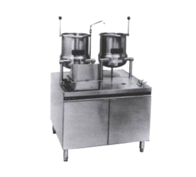 Market Forge MT10T6G200A NG 2-Tilting Kettles w/ 36-in Base & 200-MBTUH Steam Generator, Stainless, NG