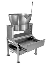 Market Forge R-1600-G LP 16-gal Tilting Skillet, Power Switch & Thermostat, Stainless w/ Satin Finish, LP