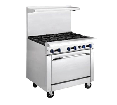 "Market Forge R-R2G24 36"" 2-Burner Gas Range with Griddle, LP"