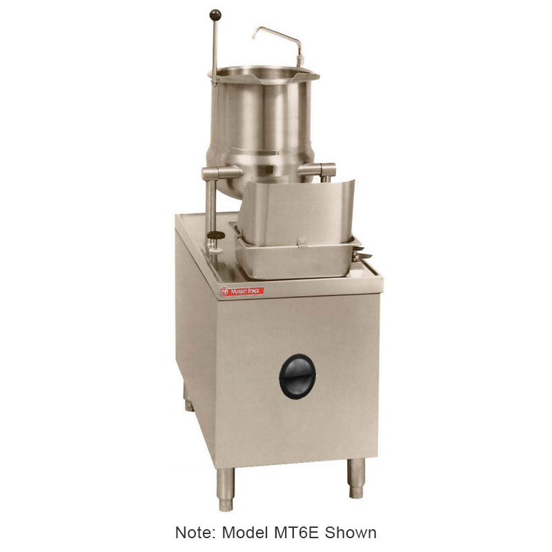 Market Forge MT10E24A 2403 10-gal Tilting Kettle w/ 24-in Base & 24-kw Steam Generator, 240/3 V