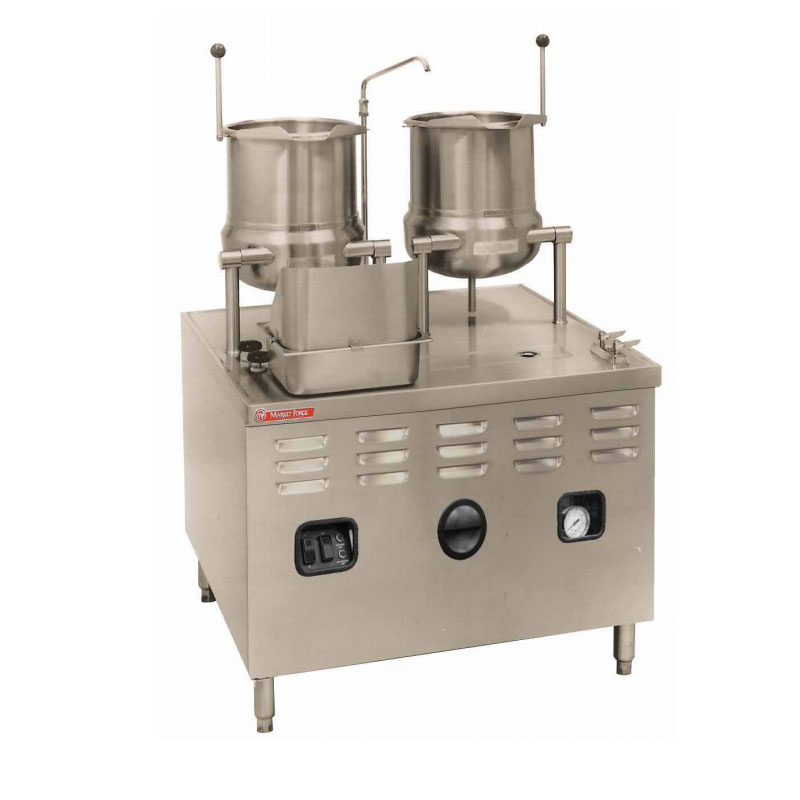 Market Forge MT10T10E36A 2403 Tilting Kettle, (2) 10-gal, w/ 36-kw Steam Generator, Stainless, 240/3 V