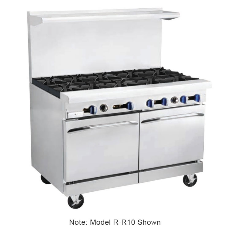 "Market Forge R-R10 60"" 10-Burner Gas Range, LP"