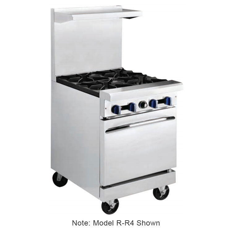 "Market Forge R-R2G-12 24"" 2-Burner Gas Range with Griddle, LP"