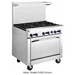 "Market Forge R-R4RG12 36"" 4-Burner Gas Range with Griddle, NG"