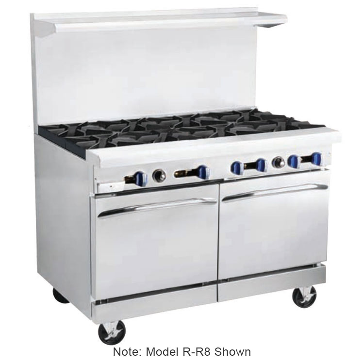 "Market Forge R-RRG24-4 48"" 4-Burner Gas Range with Griddle, NG"
