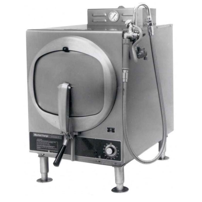 Market Forge SB-STE Electric Pressure Steamer w/ (3) Full Size Pan Capacity, 440-480v/3ph