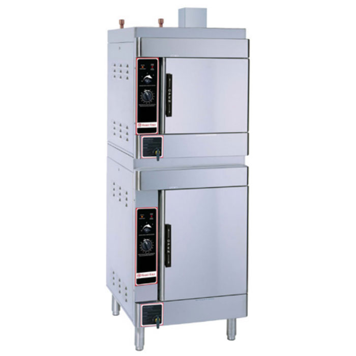 Market Forge SIRIUS II-10 Gas Floor Model Steamer w/ (10) Full Size Pan Capacity, NG