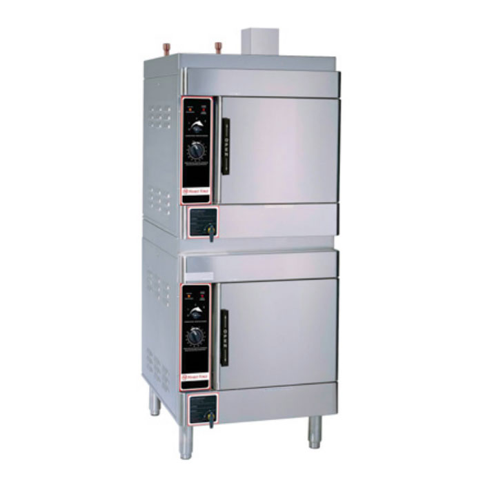 Market Forge SIRIUS II-8 Gas Floor Model Steamer w/ (8) Full Size Pan Capacity, LP