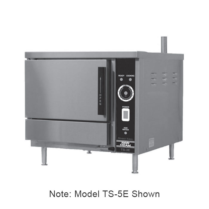 Market Forge TS-3E Electric Countertop Steamer w/ (3) Full Size Pan Capacity, 220v/1ph