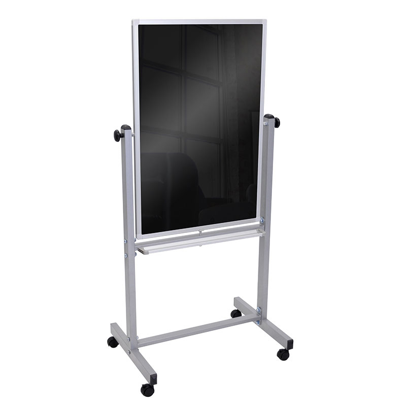 Luxor Furniture BM3040M Wallmounted Blackboard - Gloss, Magnetic Surface, Aluminum Frame, 44x34""