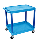 "Luxor Furniture BUTC21BU Multipurpose Cart w/ Tub & Flat Shelf, 32x24x35.75"", Polyethylene, Blue"