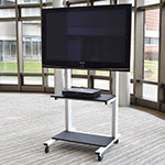Luxor Furniture CLCD Adjustable Height LCD TV Cart w/ 209-lb Capacity, White