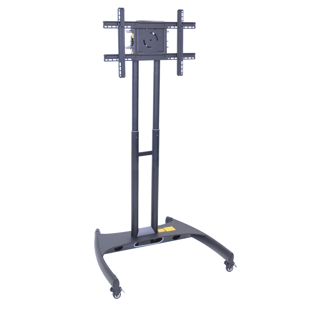 Luxor Furniture FP2000 Adjustable Height Flat Panel TV Cart w/ 100-lb Capacity & Casters