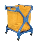 Luxor Furniture HL13 Laundry Cart w/ Blue Frame & Orange Nylon Bag