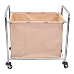 "Luxor Furniture HL14 Heavy Duty Laundry Cart w/ Removable Bag, 36.25""L x 22""W x 35""H"