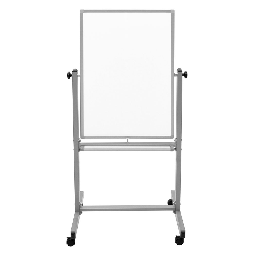 Luxor Furniture L270 Double Sided Magnetic Whiteboard w/ Knob Adjustment