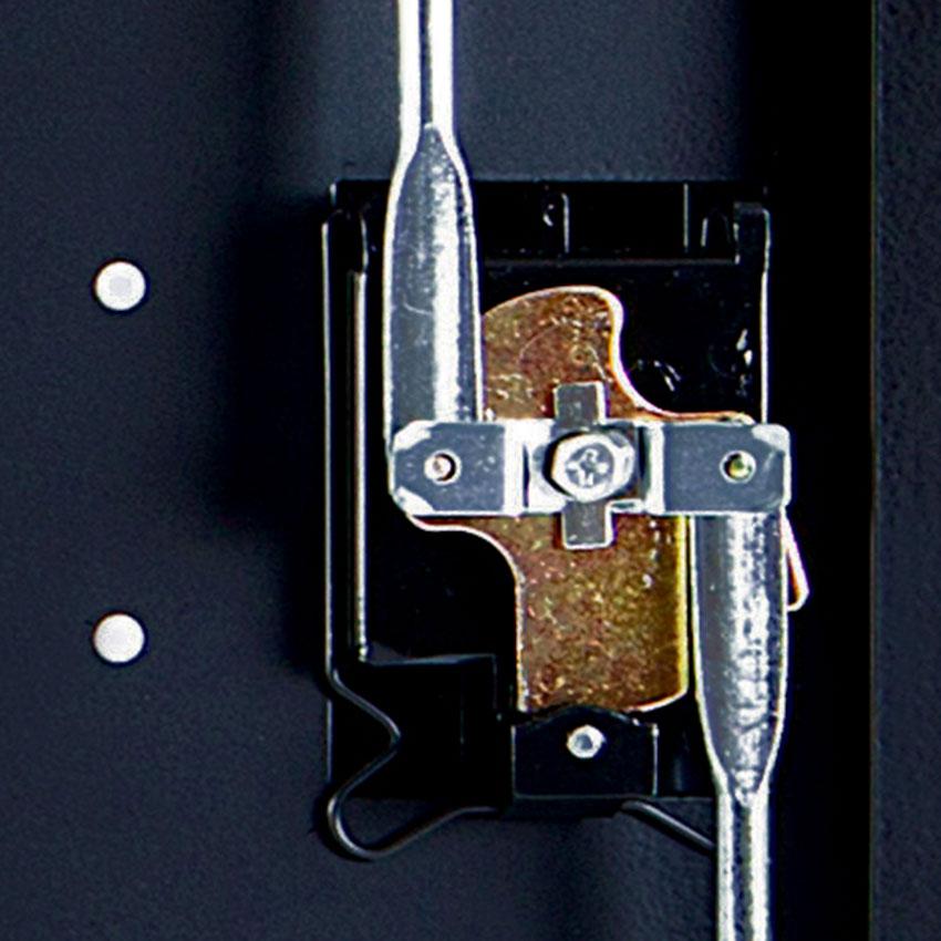 Luxor Furniture LLTM16-B-V2 3-Level Computer Cart w/ 10-ft Cord