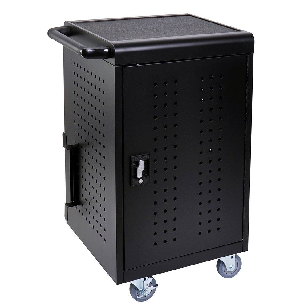 Luxor Furniture LLTM30-B 3-Level Computer Cart w/ 10-ft Cord