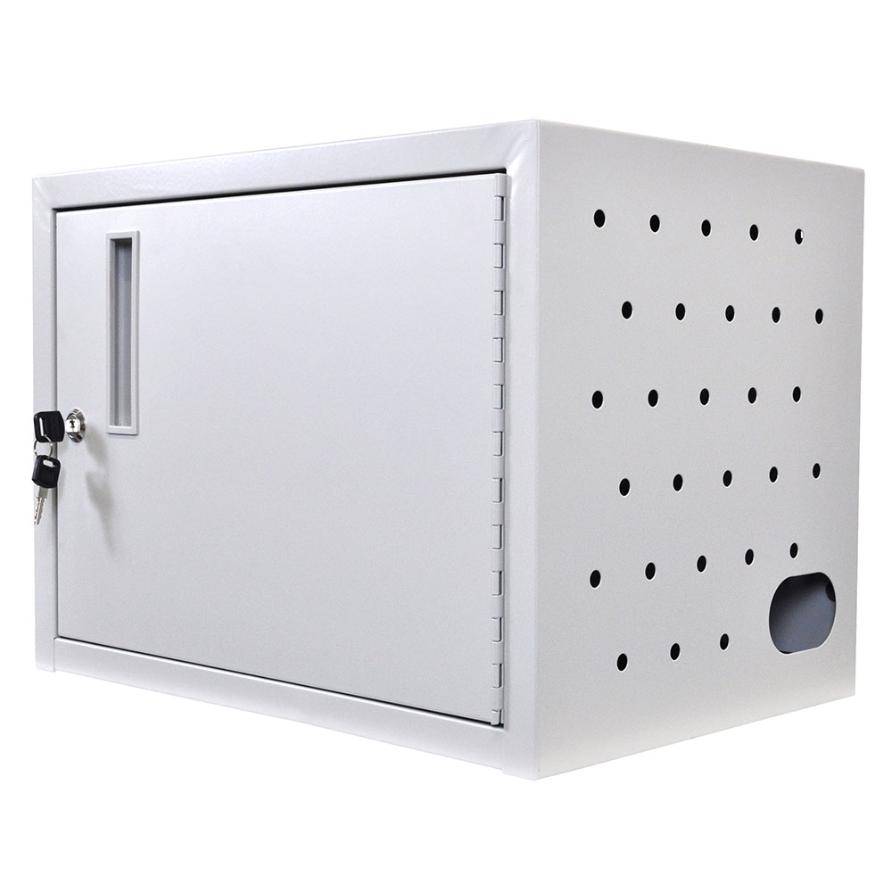 Luxor Furniture LLTMW12-G Wall/ Desk Charging Box w/ 12-Tablet Capacity, Gray