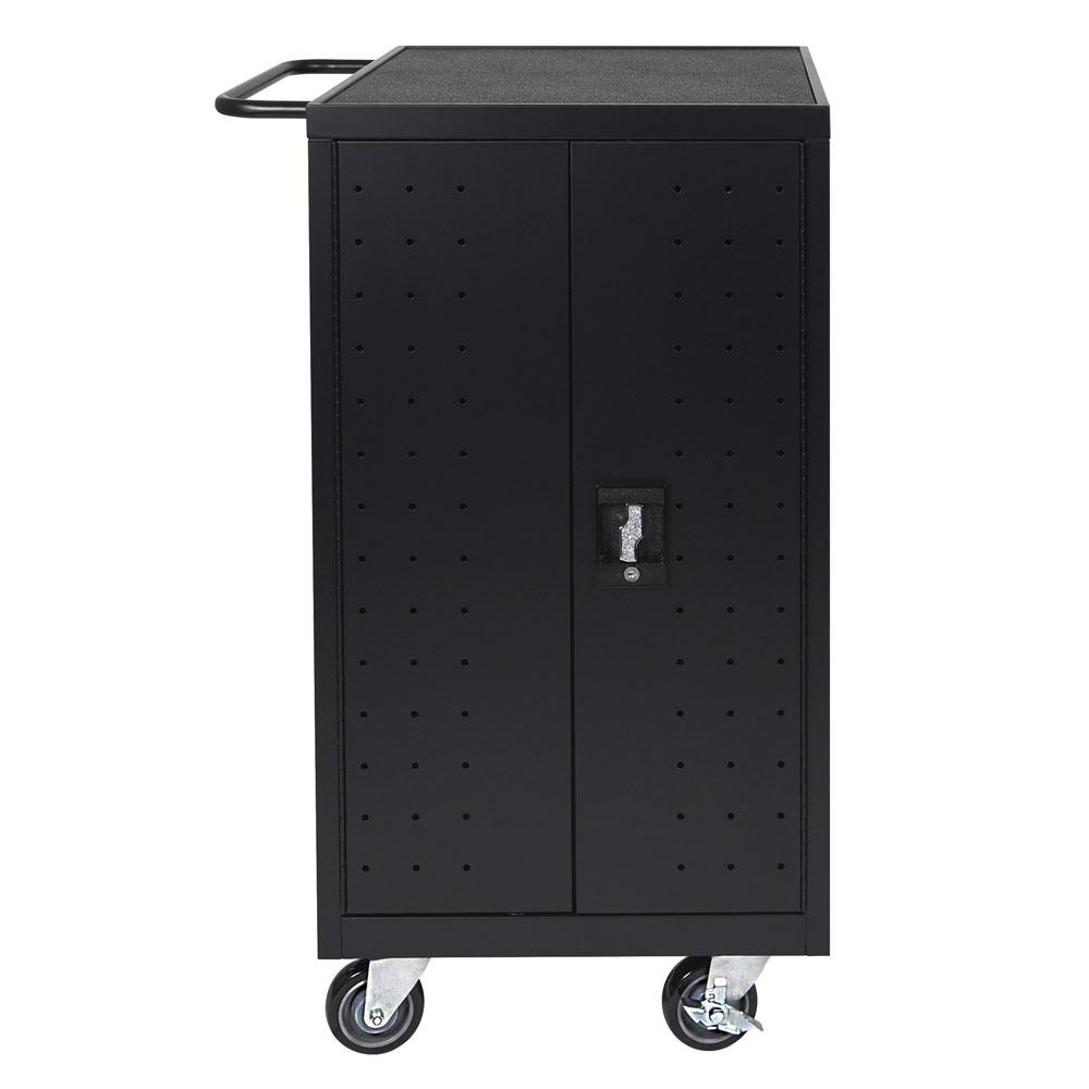 Luxor Furniture LLTP18 B 18 Laptop Charging Cart W/ (2) Shelves   10 Ft  Cord, Steel
