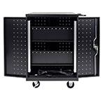 Luxor Furniture LLTP24-B 3-Level Computer Cart w/ 10-ft Cord