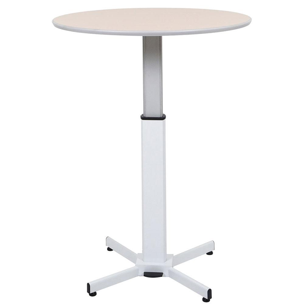 "Luxor Furniture LX-PNADJ-ROUND 31.5"" Round Adjustable Pedestal Table - Steel Base, Laminate Tabletop"