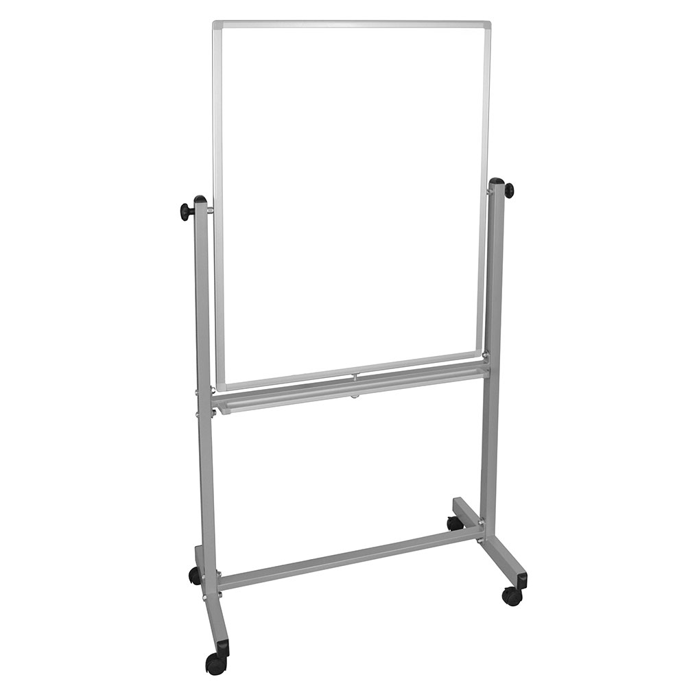 Luxor Furniture MB3040WW Reversible Magnetic Whiteboard w/ Aluminum Frame, 30x40""