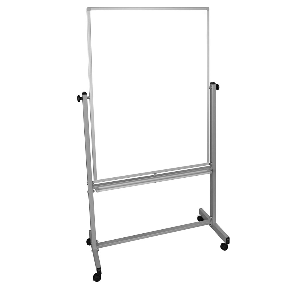 Luxor Furniture MB3648WW Reversible Magnetic Whiteboard w/ Aluminum Frame, 36x48-in