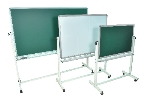 Luxor Furniture MB4836 Reversible Whiteboard & Chalkboard w/ 2-Magnetic Sides, 48 x 36""