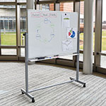 """Luxor Furniture MB4836WW Reversible Whiteboard w/ 2-Magnetic Sides, 48 x 36"""""""