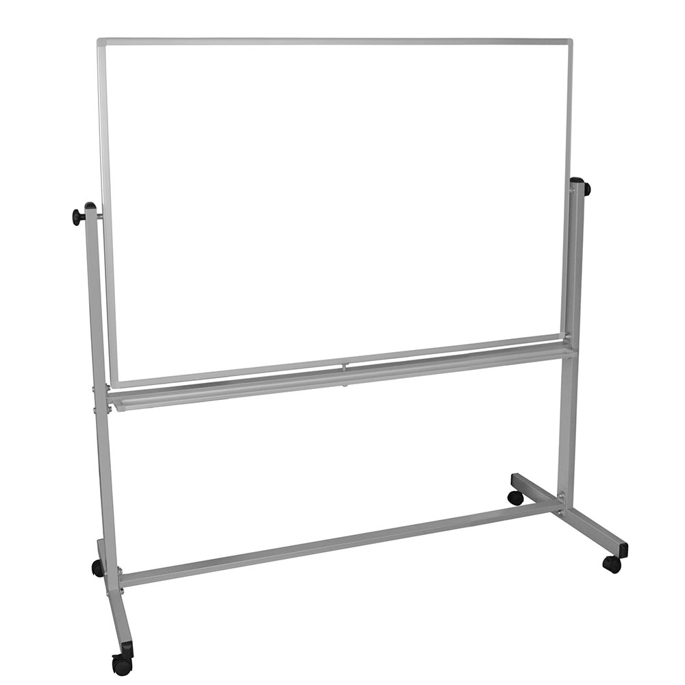 "Luxor Furniture MB6040WW Reversible Magnetic Whiteboard w/ Aluminum Frame, 60"" x 40"""